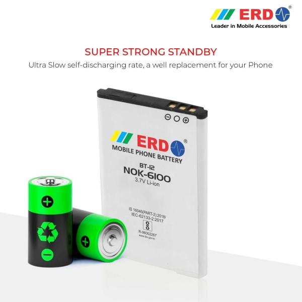ERD Mobile Phone Battery for Nokia 6100 Mobile (BT-12) 4