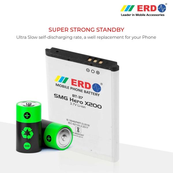 ERD BT-37 LI-ION Mobile Battery Compatible for Samsung X200 4