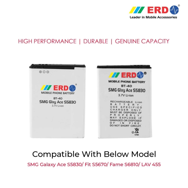 ERD BT-40 LI-ION Mobile Battery Compatible for Samsung S5830 3