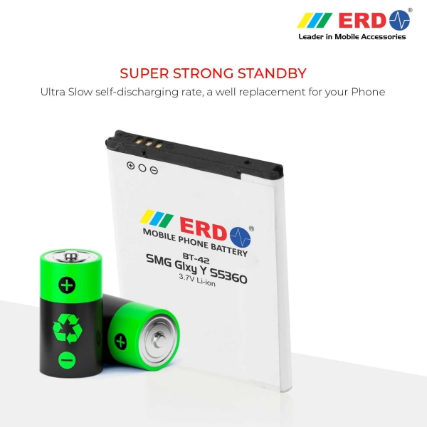 ERD BT-42 LI-ION Mobile Battery Compatible for Samsung S5360 4