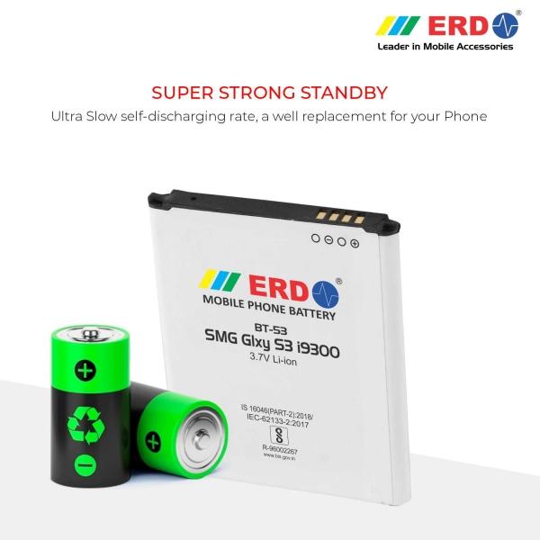 ERD BT-53 LI-ION Mobile Battery Compatible for Samsung i9300 4