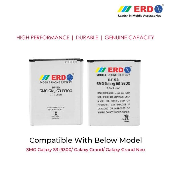 ERD BT-53 LI-ION Mobile Battery Compatible for Samsung i9300 3