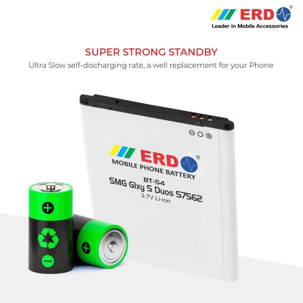 ERD BT-54 LI-ION Mobile Battery Compatible for Samsung S7562 4