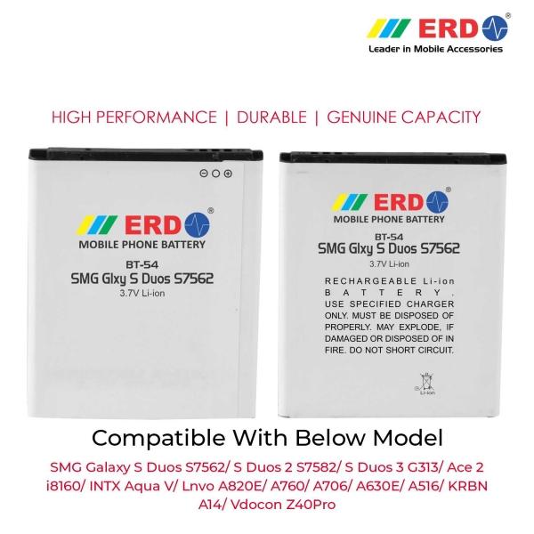 ERD BT-54 LI-ION Mobile Battery Compatible for Samsung S7562 3