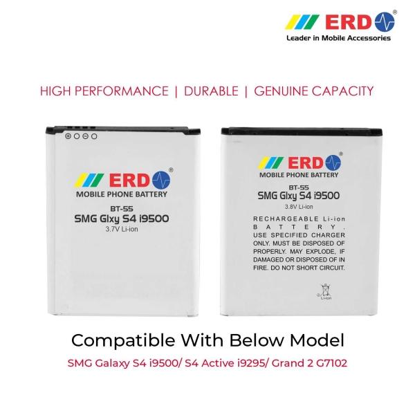 ERD BT-55 LI-ION Mobile Battery Compatible for Samsung i9500 3