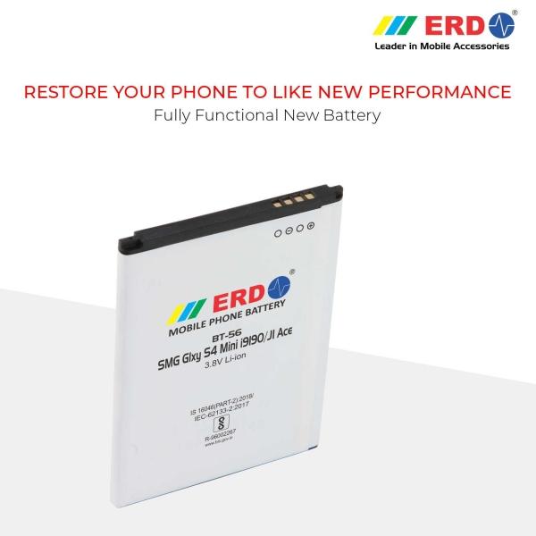 ERD BT-56 LI-ION Mobile Battery Compatible for Samsung S 4 Mini 7