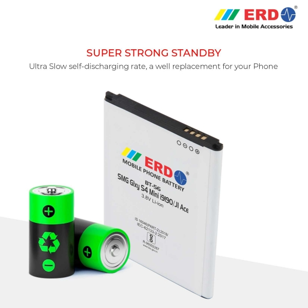 ERD BT-56 LI-ION Mobile Battery Compatible for Samsung S 4 Mini 4