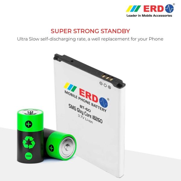 ERD BT-60 LI-ION Mobile Battery Compatible for Samsung i8260 4