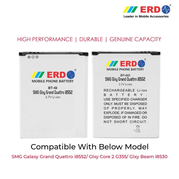 ERD BT-61 LI-ION Mobile Battery Compatible for Samsung i8552 3