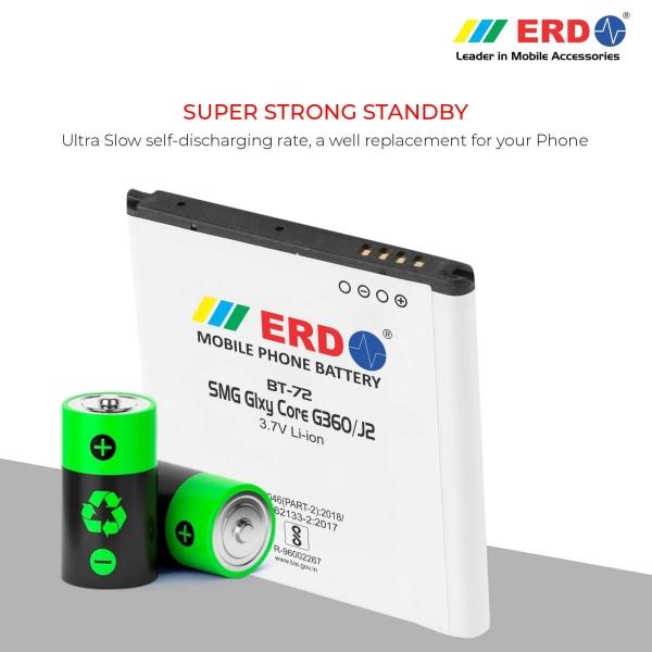 ERD BT-72 LI-ION Mobile Battery Compatible for Samsung G360 4