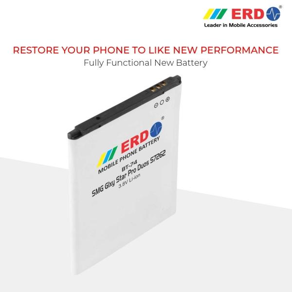 ERD BT-74 LI-ION Mobile Battery Compatible for Samsung S7262 7