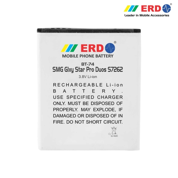ERD BT-74 LI-ION Mobile Battery Compatible for Samsung S7262 6