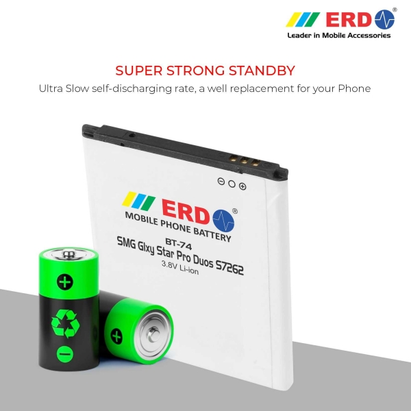 ERD BT-74 LI-ION Mobile Battery Compatible for Samsung S7262 4