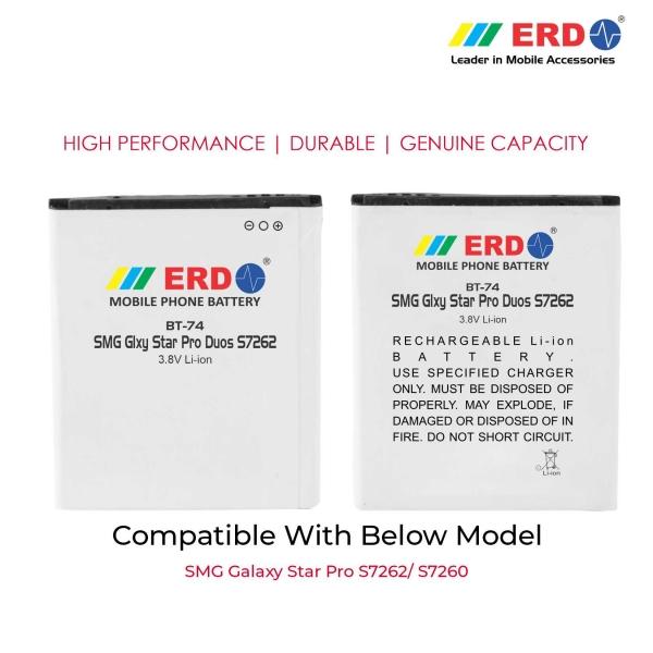 ERD BT-74 LI-ION Mobile Battery Compatible for Samsung S7262 3