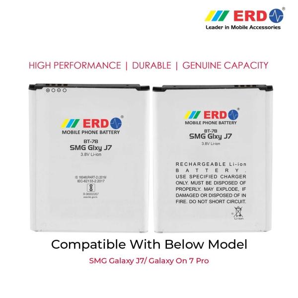 ERD BT-78 LI-ION Mobile Battery Compatible for Samsung J7 3