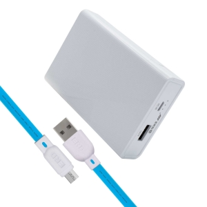 ERD PB-30 Li-Ion Power Bank   6000mAh Single Input Port   Compatible with for Smartphones, Smart Watches, Neckbands & Other Devices   White
