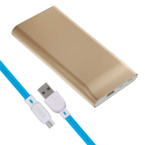 ERD PB-10KC Li-Polymer Power Bank   10000mAh Single Input Ports   Compatible with Smartphones, Smart Watches, Neckbands & Other Devices  Gold