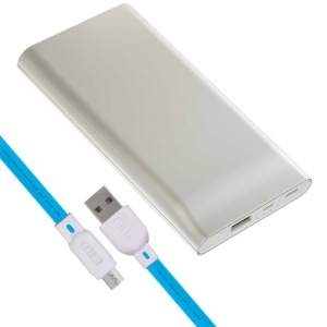 ERD PB-10KC Li-Polymer Power Bank   10000mAh Single Input Ports   Compatible with Smartphones, Smart Watches, Neckbands & Other Devices   Silver