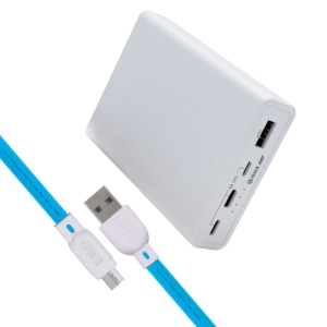ERD PB-45 Li-Ion Power Bank   10000mAh Universal Input Charging Ports   Compatible with Smartphones, Smart Watches, Neckbands & Other Devices   White