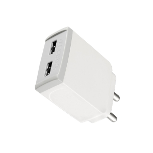ERD TC-32 5V Mobile Phone Wall Charger | BIS Certified 3 Amp TC-32 Dual Port USB Dock Charges Device Fast (White)